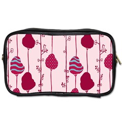 Flower Floral Mpink Frame Toiletries Bags 2 Side by Mariart