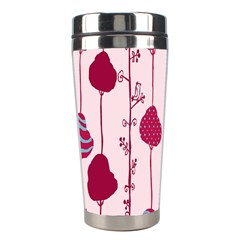Flower Floral Mpink Frame Stainless Steel Travel Tumblers by Mariart