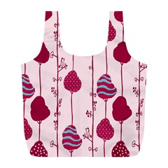 Flower Floral Mpink Frame Full Print Recycle Bags (l)  by Mariart