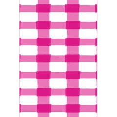 Hot Pink Brush Stroke Plaid Tech White 5 5  X 8 5  Notebooks by Mariart