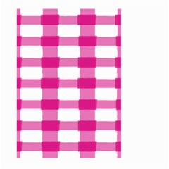 Hot Pink Brush Stroke Plaid Tech White Large Garden Flag (two Sides) by Mariart