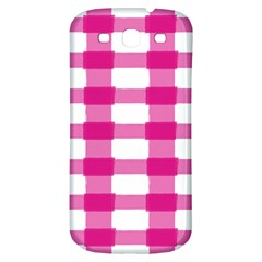 Hot Pink Brush Stroke Plaid Tech White Samsung Galaxy S3 S Iii Classic Hardshell Back Case by Mariart