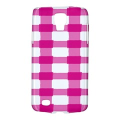 Hot Pink Brush Stroke Plaid Tech White Galaxy S4 Active by Mariart