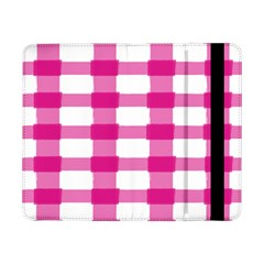 Hot Pink Brush Stroke Plaid Tech White Samsung Galaxy Tab Pro 8 4  Flip Case by Mariart