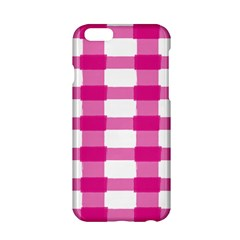 Hot Pink Brush Stroke Plaid Tech White Apple Iphone 6/6s Hardshell Case by Mariart