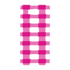 Hot Pink Brush Stroke Plaid Tech White Samsung Galaxy Alpha Hardshell Back Case by Mariart