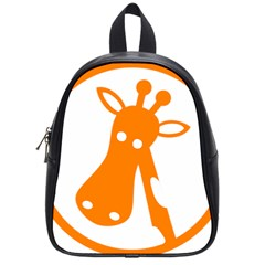 Giraffe Animals Face Orange School Bags (small)  by Mariart