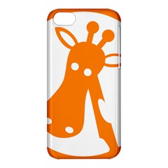 Giraffe Animals Face Orange Apple Iphone 5c Hardshell Case by Mariart