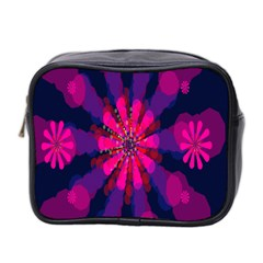 Flower Red Pink Purple Star Sunflower Mini Toiletries Bag 2 Side by Mariart