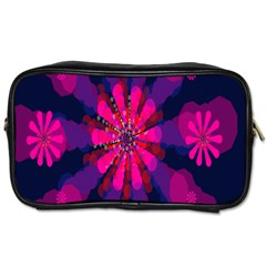 Flower Red Pink Purple Star Sunflower Toiletries Bags by Mariart