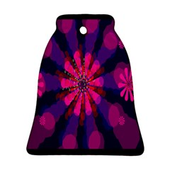 Flower Red Pink Purple Star Sunflower Bell Ornament (two Sides) by Mariart