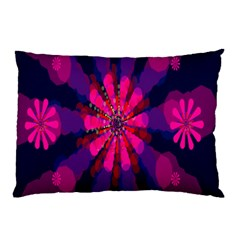Flower Red Pink Purple Star Sunflower Pillow Case (two Sides) by Mariart