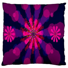 Flower Red Pink Purple Star Sunflower Large Cushion Case (one Side) by Mariart