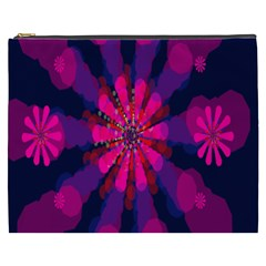 Flower Red Pink Purple Star Sunflower Cosmetic Bag (xxxl)  by Mariart