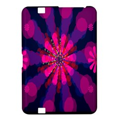 Flower Red Pink Purple Star Sunflower Kindle Fire Hd 8 9  by Mariart