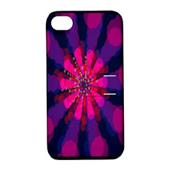 Flower Red Pink Purple Star Sunflower Apple Iphone 4/4s Hardshell Case With Stand by Mariart