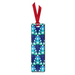 Christmas Tree Snow Green Blue Small Book Marks by Mariart