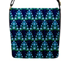 Christmas Tree Snow Green Blue Flap Messenger Bag (l)  by Mariart