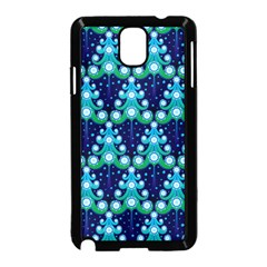 Christmas Tree Snow Green Blue Samsung Galaxy Note 3 Neo Hardshell Case (black) by Mariart