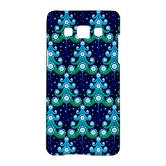 Christmas Tree Snow Green Blue Samsung Galaxy A5 Hardshell Case  by Mariart