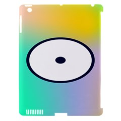 Illustrated Circle Round Polka Rainbow Apple Ipad 3/4 Hardshell Case (compatible With Smart Cover) by Mariart