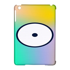 Illustrated Circle Round Polka Rainbow Apple Ipad Mini Hardshell Case (compatible With Smart Cover) by Mariart