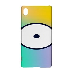 Illustrated Circle Round Polka Rainbow Sony Xperia Z3+ by Mariart