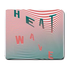 Heat Wave Chevron Waves Red Green Large Mousepads by Mariart