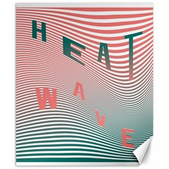 Heat Wave Chevron Waves Red Green Canvas 8  X 10  by Mariart