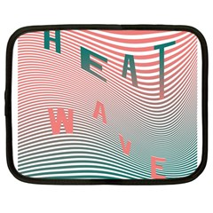 Heat Wave Chevron Waves Red Green Netbook Case (large) by Mariart