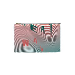Heat Wave Chevron Waves Red Green Cosmetic Bag (small)  by Mariart