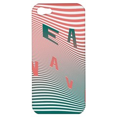 Heat Wave Chevron Waves Red Green Apple Iphone 5 Hardshell Case by Mariart