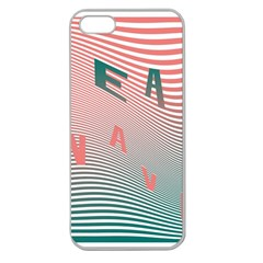 Heat Wave Chevron Waves Red Green Apple Seamless Iphone 5 Case (clear) by Mariart