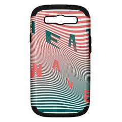 Heat Wave Chevron Waves Red Green Samsung Galaxy S Iii Hardshell Case (pc+silicone) by Mariart