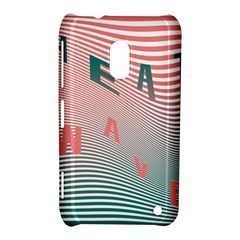 Heat Wave Chevron Waves Red Green Nokia Lumia 620 by Mariart