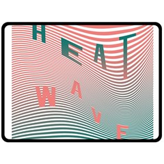 Heat Wave Chevron Waves Red Green Double Sided Fleece Blanket (large)  by Mariart