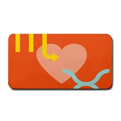 Illustrated Zodiac Love Heart Orange Yellow Blue Medium Bar Mats by Mariart