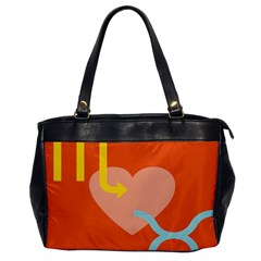 Illustrated Zodiac Love Heart Orange Yellow Blue Office Handbags by Mariart