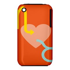 Illustrated Zodiac Love Heart Orange Yellow Blue Iphone 3s/3gs by Mariart