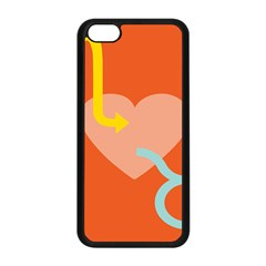 Illustrated Zodiac Love Heart Orange Yellow Blue Apple Iphone 5c Seamless Case (black) by Mariart