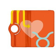 Illustrated Zodiac Love Heart Orange Yellow Blue Kindle Fire Hdx 8 9  Flip 360 Case by Mariart