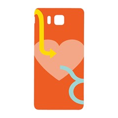Illustrated Zodiac Love Heart Orange Yellow Blue Samsung Galaxy Alpha Hardshell Back Case by Mariart