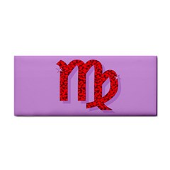 Illustrated Zodiac Purple Red Star Polka Cosmetic Storage Cases by Mariart