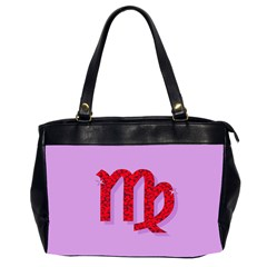 Illustrated Zodiac Purple Red Star Polka Office Handbags (2 Sides)  by Mariart