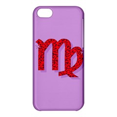 Illustrated Zodiac Purple Red Star Polka Apple Iphone 5c Hardshell Case by Mariart