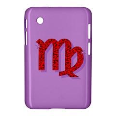 Illustrated Zodiac Purple Red Star Polka Samsung Galaxy Tab 2 (7 ) P3100 Hardshell Case  by Mariart
