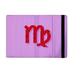 Illustrated Zodiac Purple Red Star Polka iPad Mini 2 Flip Cases by Mariart