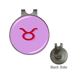 Illustrated Zodiac Purple Red Star Polka Circle Hat Clips With Golf Markers by Mariart