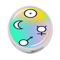 Illustrated Moon Circle Polka Dot Rainbow 4 Port Usb Hub (two Sides)  by Mariart