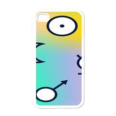 Illustrated Moon Circle Polka Dot Rainbow Apple Iphone 4 Case (white) by Mariart